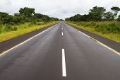 picture of tar  - A tar road in Zambia that - JPG