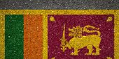 National Flag Of Sri Lanka On A Stone Background.the Concept Of National Pride And Symbol Of The Cou poster