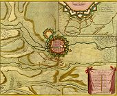 Antique Map Of  Landau, Germany