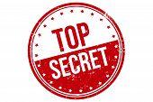 Top Secret Rubber Stamp. Top Secret Rubber Grunge Stamp Seal Vector Illustration - Vector poster