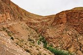 Dades Gorge Is A Gorge Of Dades River In Atlas Mountains In Morocco. Dades Gorge Depth Is From 200 T poster