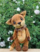 Ron fox cub and flowers