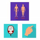 Vector Design Of Symptom And Disease Symbol. Set Of Symptom And Treatment Vector Icon For Stock. poster