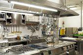 stock photo of oven  - The interior of a kitchen restaurant  - JPG