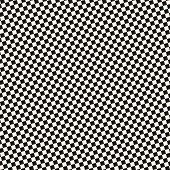 Checkered Seamless Pattern. Black And White Vector Geometric Texture With Small Diagonal Squares, Re poster