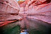 Pink Antelope Slot Canyon Reflection Lake Powell Arizona