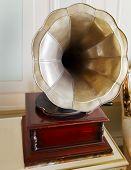 Old Antiquated Clockwork Gramophone