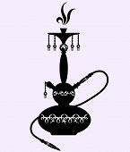 pic of shisha  - hookah with oriental pattern for the vector - JPG