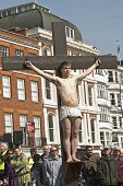 Actor who plays Dismas is crucif Exeter Cathedral Green Where The Passion Of Jesus Christ's Crucif