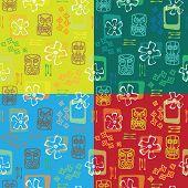 Tiki seamless pattern