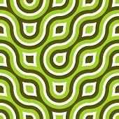 Funky Wild Circle Seamless Pattern Lime Green White