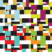 Abstract 50s squares seamless pattern