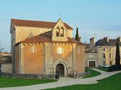 stock photo of poitiers  - It is reputed to be the oldest existing Christian building in France - JPG
