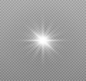 Star Explodes On Transparent Background. Sparkling Magic Dust Particles. Bright Star. The Transparen poster