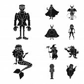 Isolated Object Of Creature And Devilry Icon. Collection Of Creature And Halloween Stock Symbol For  poster