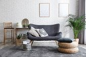 Stylish Living Room With Modern Furniture And Stylish Decor. Idea For Interior Design poster