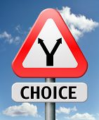 difficult choice choose at crossroads impossible to decide which direction to go decision when you can't choose being doubtful in doubt because of confusion you become insecure indecisive act here now