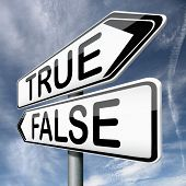 stock photo of tell lies  - false or true telling truth or lies reality or fantasy real story or not - JPG