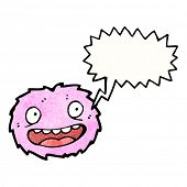 cartoon pink furry monster poster