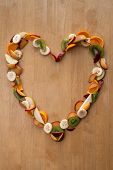 Fruit Heart - Healthy Eating / Healthy Heart! Valentines Day Or 5-A-Day Vitamins!