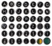 image of outdated  - Old typewriter keys - JPG