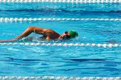 Swimmer Crowls In Pool 3