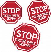 Stop Texting While Driving Safety Graphics