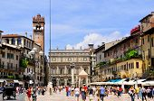 stock photo of piazza  - VERONA  - JPG