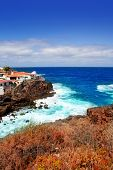 La Palma Santa cruz volcanic stone atlantic coast beach in Canary Islands