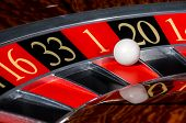 Classic Casino Roulette Wheel With Red Sector One