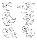 image of platypus  - Some cartoon animals  - JPG