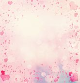stock photo of corazon  - Valentine Hearts Abstract Pink Background - JPG