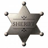 Escudo do xerife. Vector.
