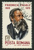 ROMANIA - CIRCA 1970: Postage stamps printed in Romania dedicated to Friedrich Engels (1820-1895), G
