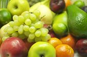 Organic Grapes And Fruits
