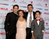 LOS ANGELES - SEP 27:  Joseph Haro, Justina Machado, Ricardo A. Chavira, Fabrizio Guido at the 2013