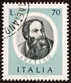 ITALY - CIRCA 1977: a stamp printed in Italy shows image of Pietro Aretino (1760 - 1842), famous Ita