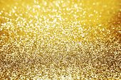 Golden shiny glitter holiday celebration background