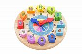 Colourful Toy Wooden Clock