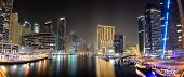 Dubai, Uae - September 8: The Night Illumination Of Dubai Marina On September 8, 2013 In Dubai, Uae.