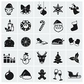 Christmas Icons. Vector Illustration.
