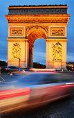 stock photo of charles de gaulle  - Arc De Triomphe De L - JPG