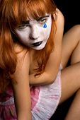 stock photo of clown rose  - sad clown - JPG