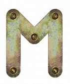 Old metal alphabet letter M