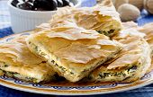 Opa! Spanakopita - Greek Spinach Pie With Olives