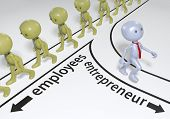 stock photo of self-employment  - Entrepreneur decision to choose path to start up business success - JPG