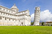 An image of the great Piazza Miracoli in Pisa Italy