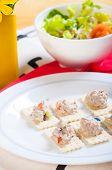 tuna salad on a crackers