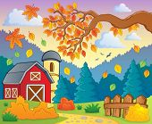 Autumn theme landscape 1 - eps10 vector illustration.