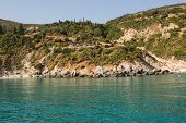 View From The Sea To The Island Of Zakynthos